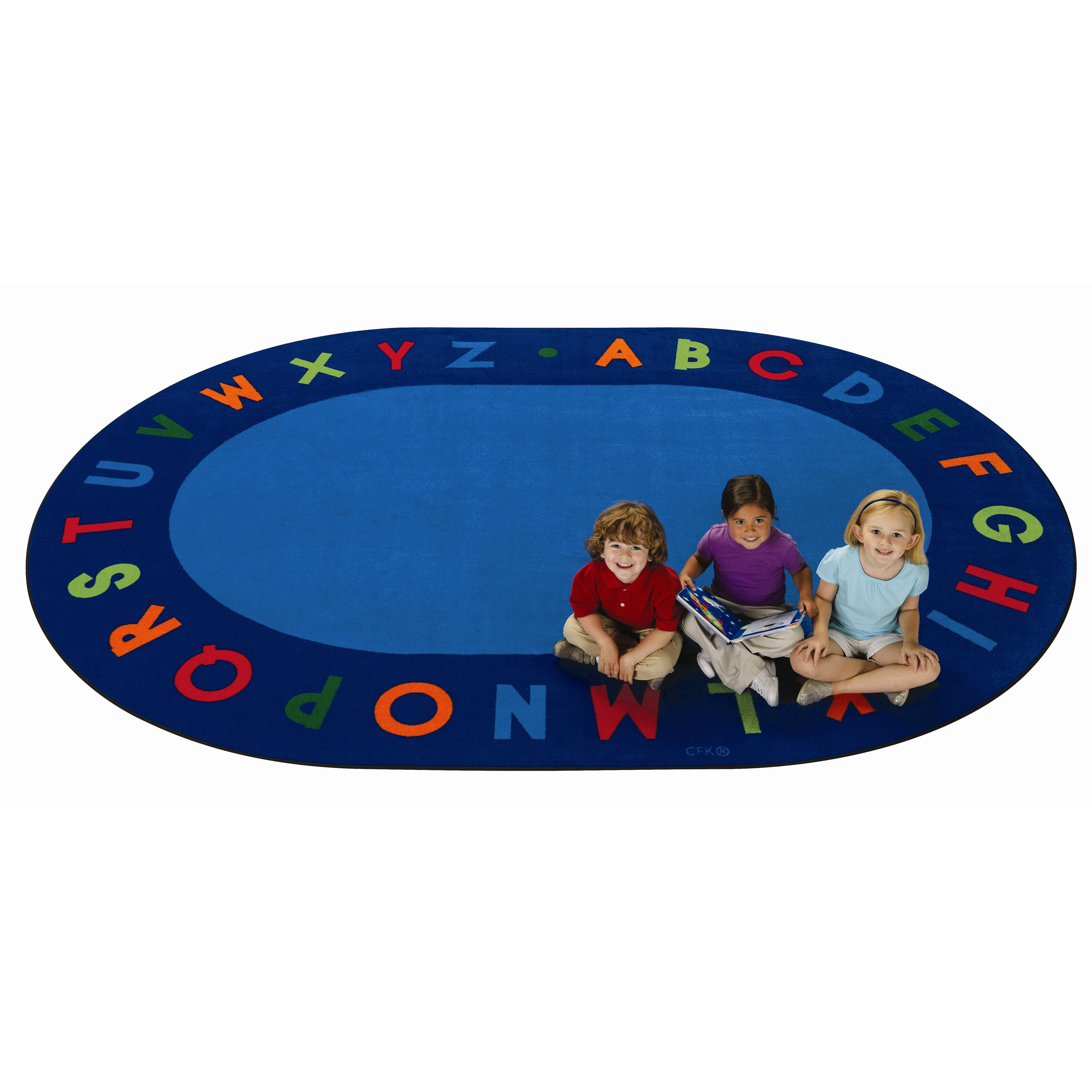 Carpets For Kids Circletime Bule Alphabet Primary Area Rug