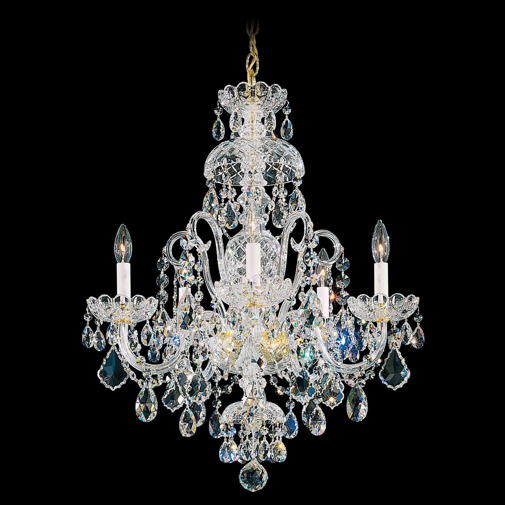 Schonbek Chandelier Wayfair: Schonbek Olde World 5 Light Crystal Chandelier
