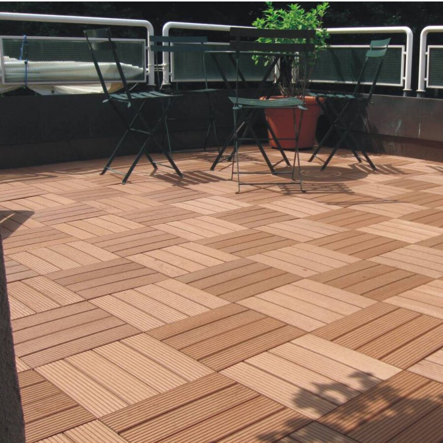 Naturesort bamboo composite 12 x 12 deck tiles reviews for Bamboo flooring outdoor decking