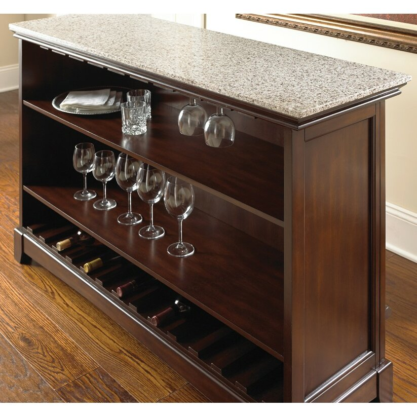 Steve Silver Furniture Newbury Counter Bar With Wine