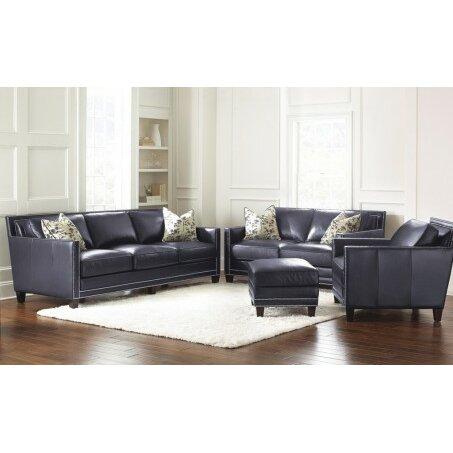 Steve Silver Furniture Hendrix Leather Sofa Reviews Wayfair