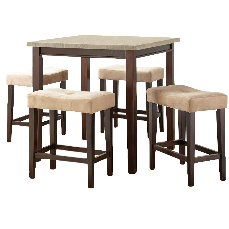 Steve Silver Furniture Aberdeen 5 Piece Counter Height Dining Set Reviews