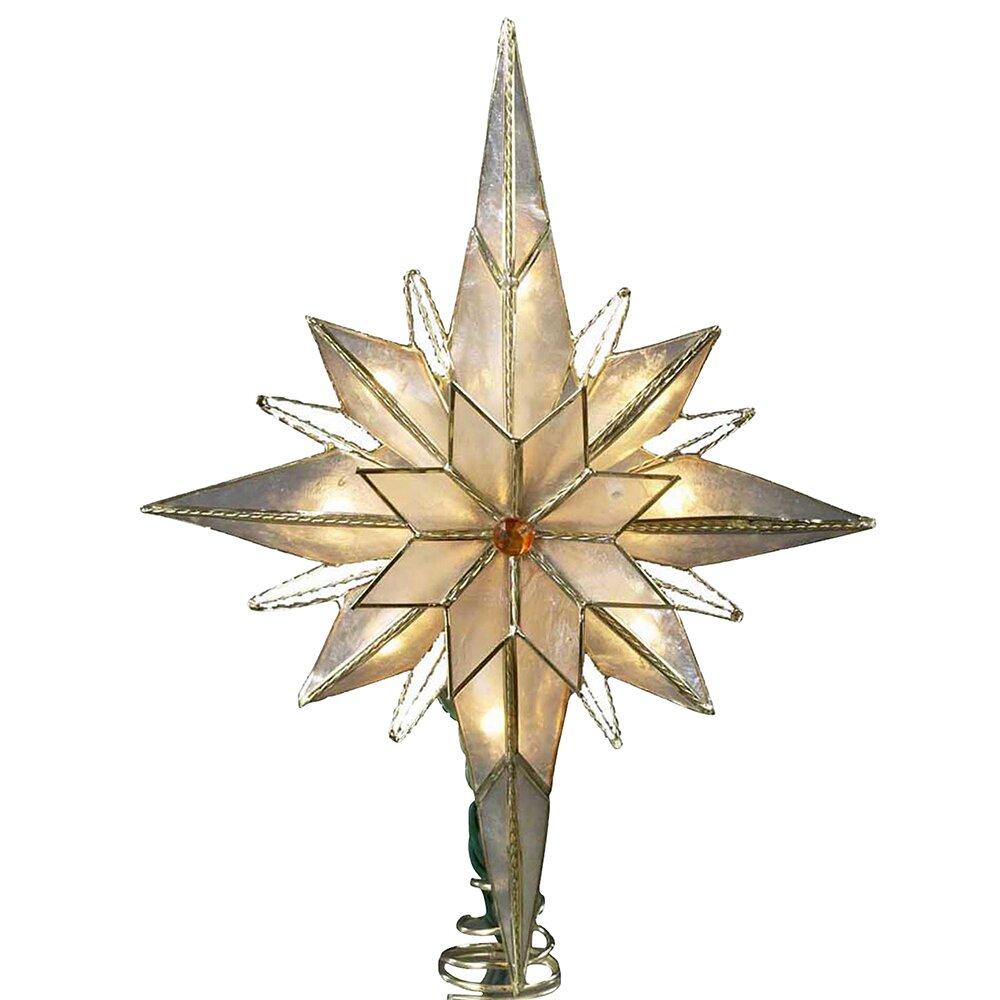 Amazing Kurt Adler Christmas Tree Topper #1: 10%2BLight%2BPointed%2BBethlehem%2BStar%2BTree%2BTopper.jpg