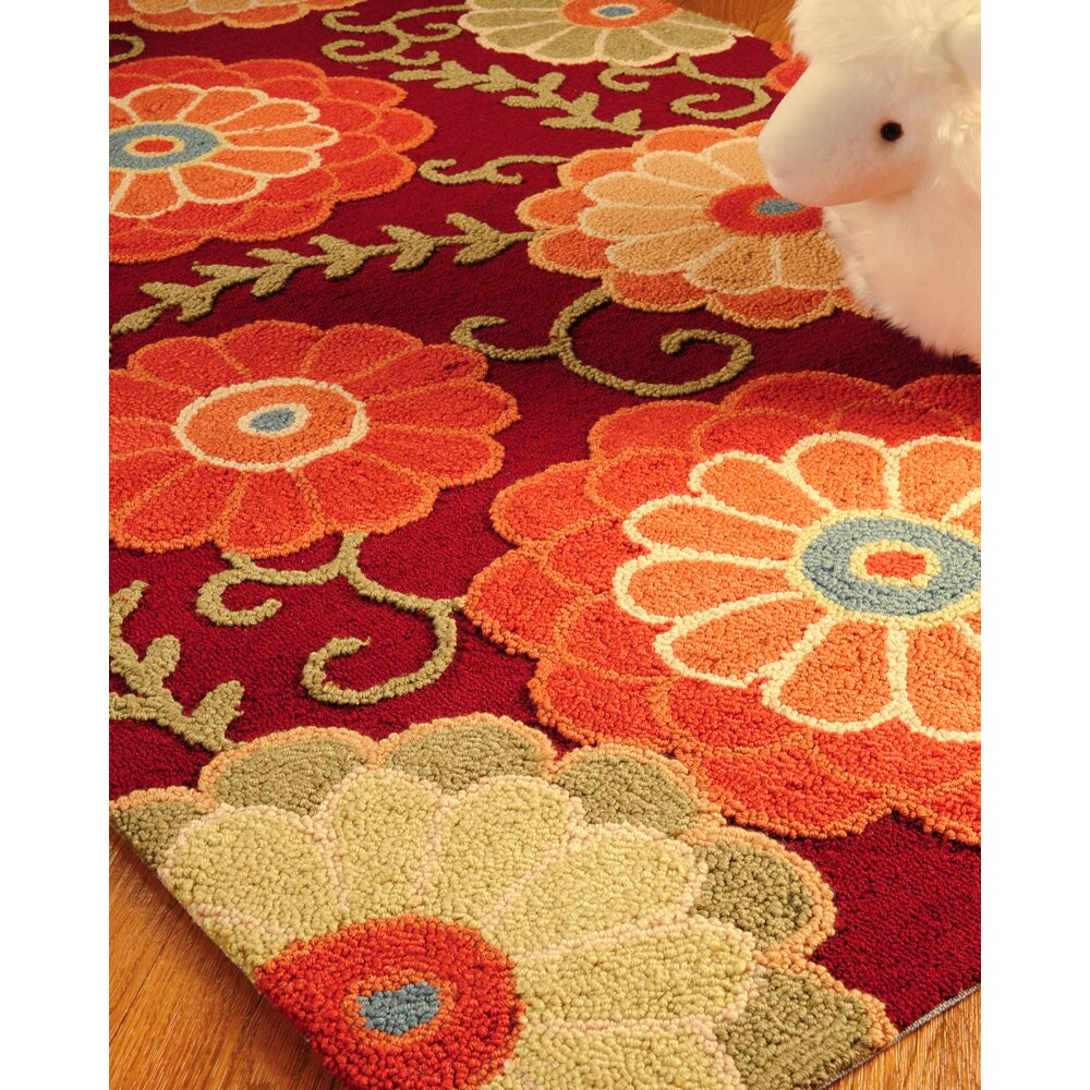 Throw Rugs Secure: Natural Area Rugs Jute Romance Red Area Rug & Reviews