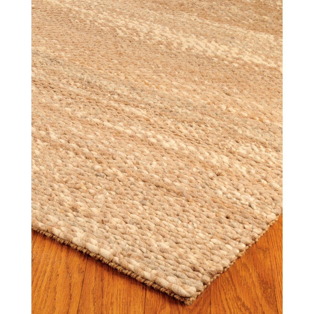 Natural Area Rugs Jute Garnet Wool Beige Area Rug