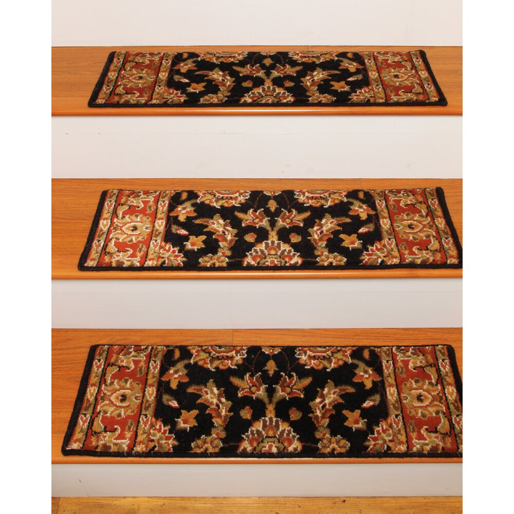 Natural Area Rugs Sydney Black Classic Persian Stair Tread
