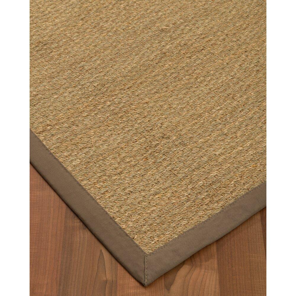Natural area rugs maritime handmade taupe area rug wayfair for Custom made area rugs