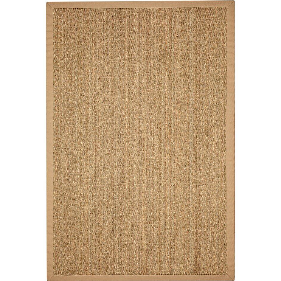 natural area rugs seagrass hand woven sage khaki area rug reviews wayfair. Black Bedroom Furniture Sets. Home Design Ideas