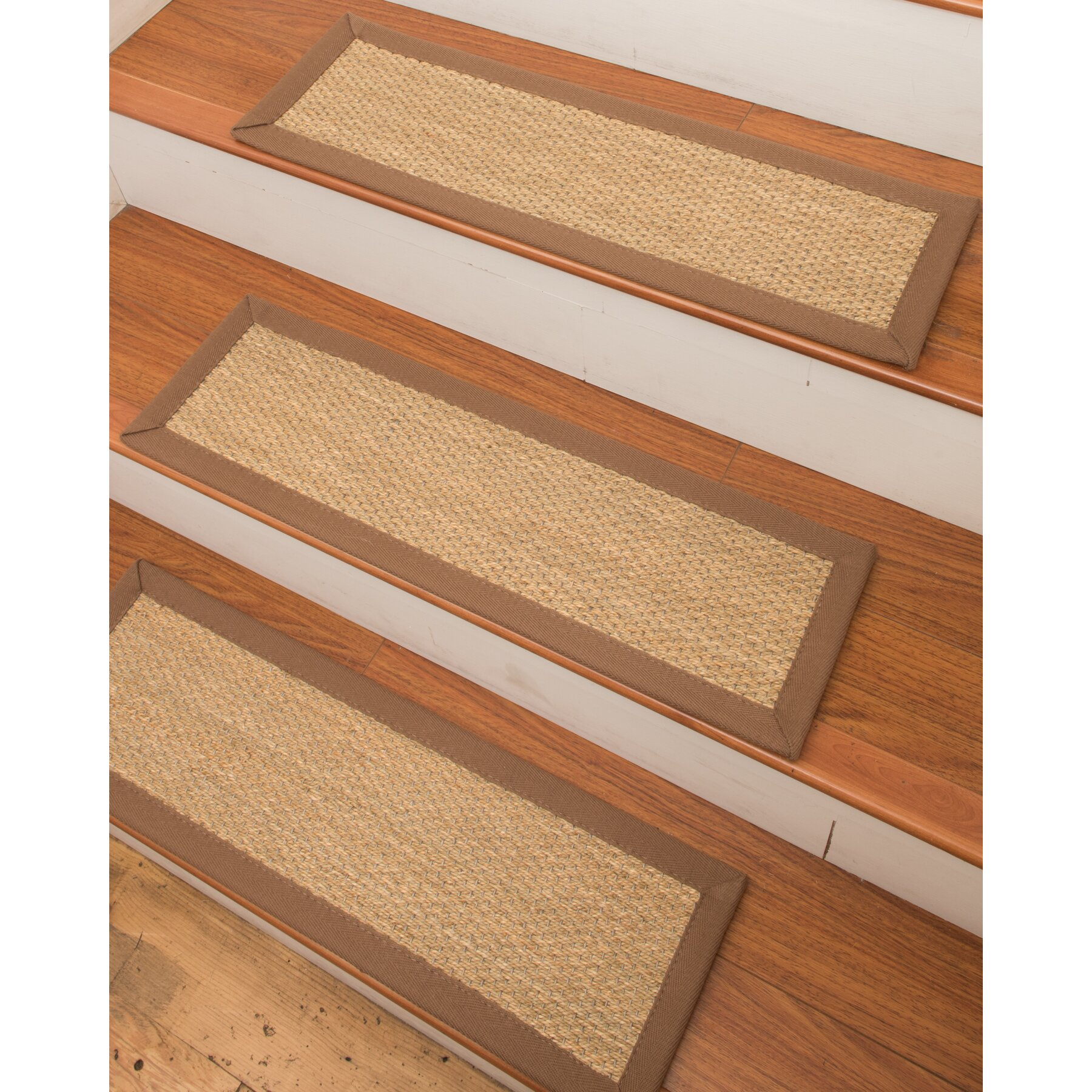 Natural Area Rugs Positano Seagrass Carpet Beige Stair