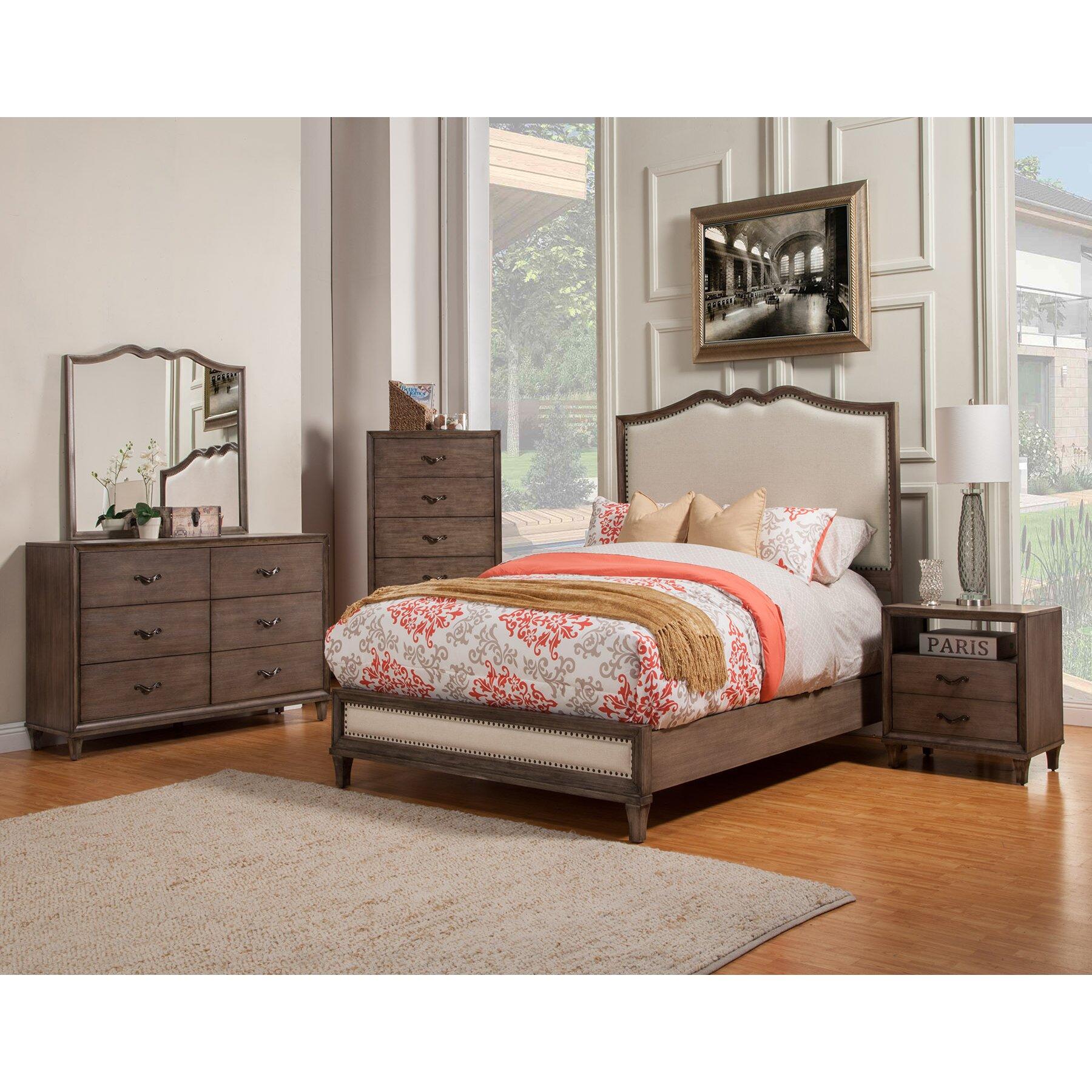 Alpine Furniture Charleston Panel Customizable Bedroom Set Reviews Wayfair