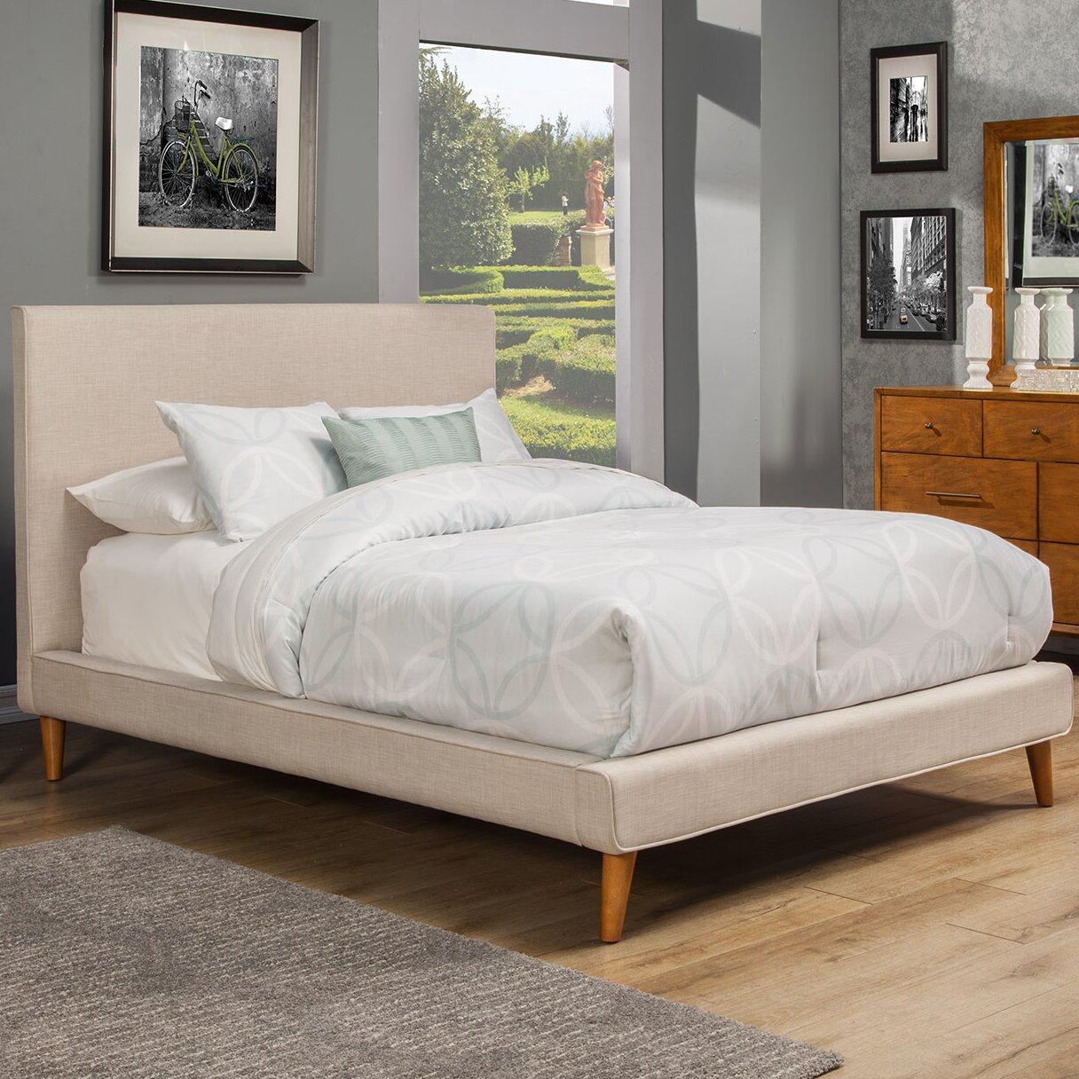 Wayfair All Modern: Langley Street Parocela Upholstered Platform Bed & Reviews