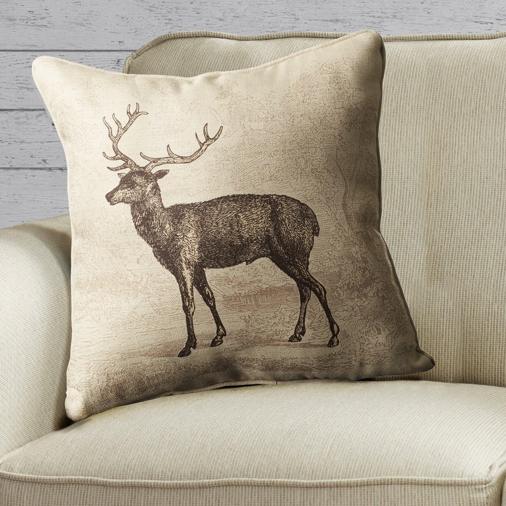 Throw Pillows With Deer : lava Lava Deer Etching Throw Pillow & Reviews Wayfair