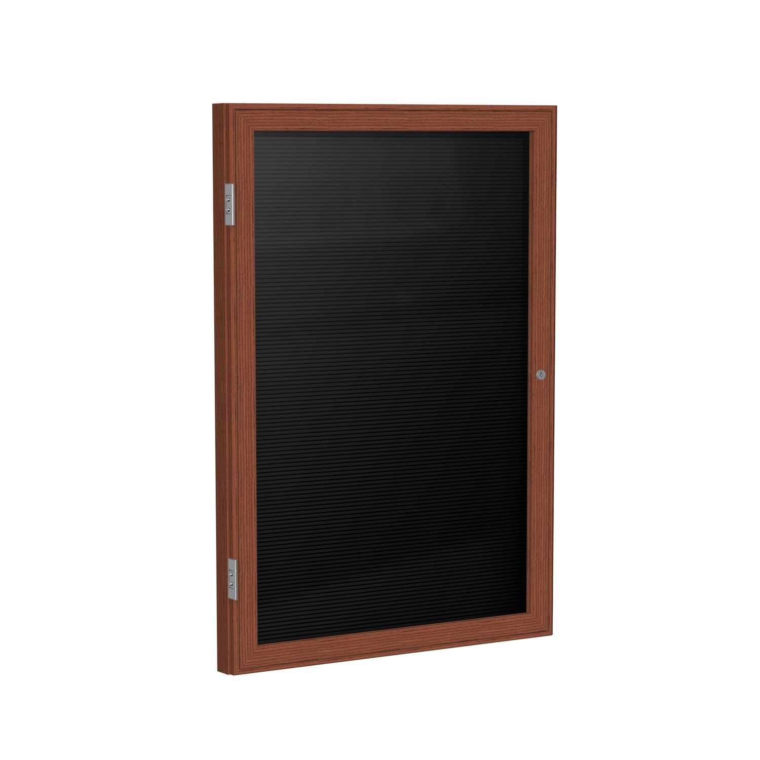 Superb img of Door Wood Frame Enclosed Letter Board by Ghent with #784230 color and 1500x1500 pixels