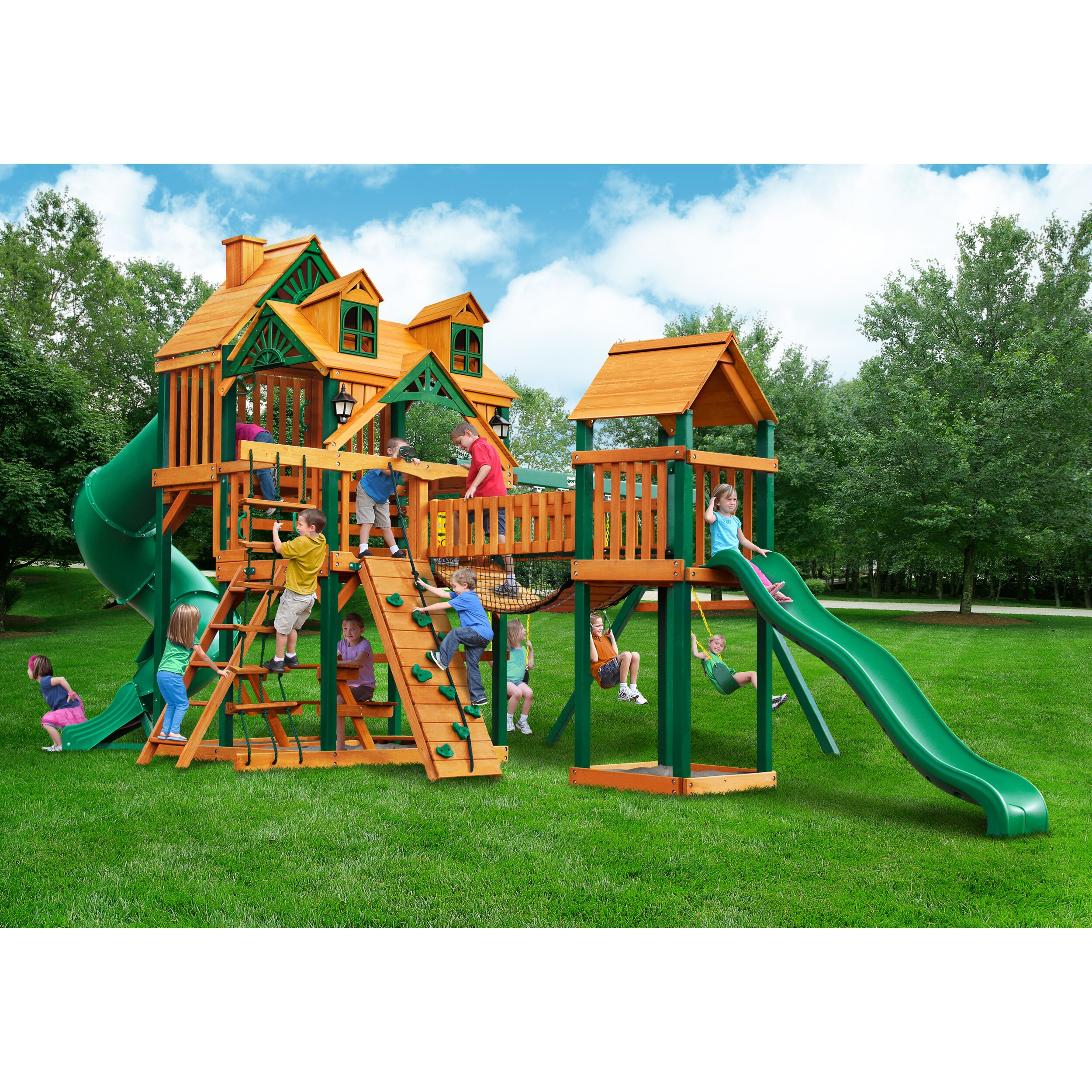 Gorilla playsets malibu treasure trove i swing set for Gorilla playsets
