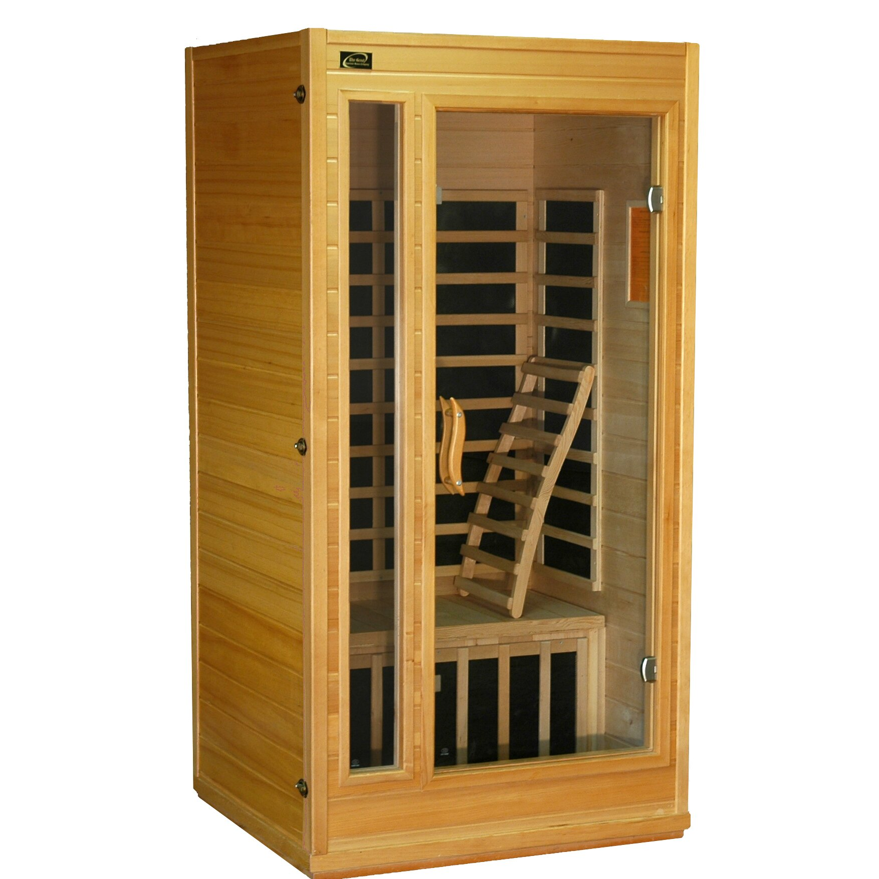 great american sauna company gasc 1 2 person carbon far infrared sauna reviews wayfair. Black Bedroom Furniture Sets. Home Design Ideas