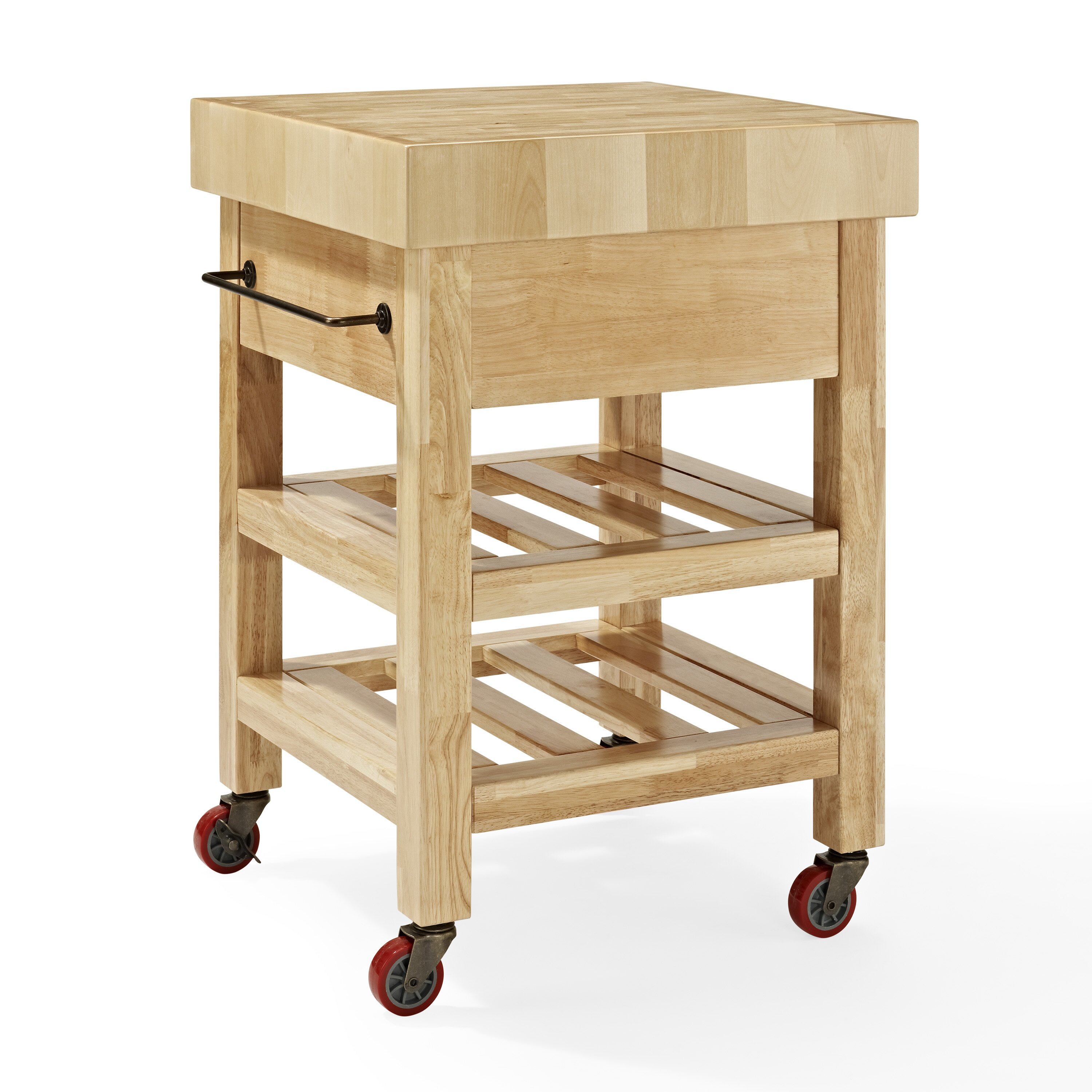 Crosley Marston Island Kitchen Cart With Wood Top Reviews Wayfair
