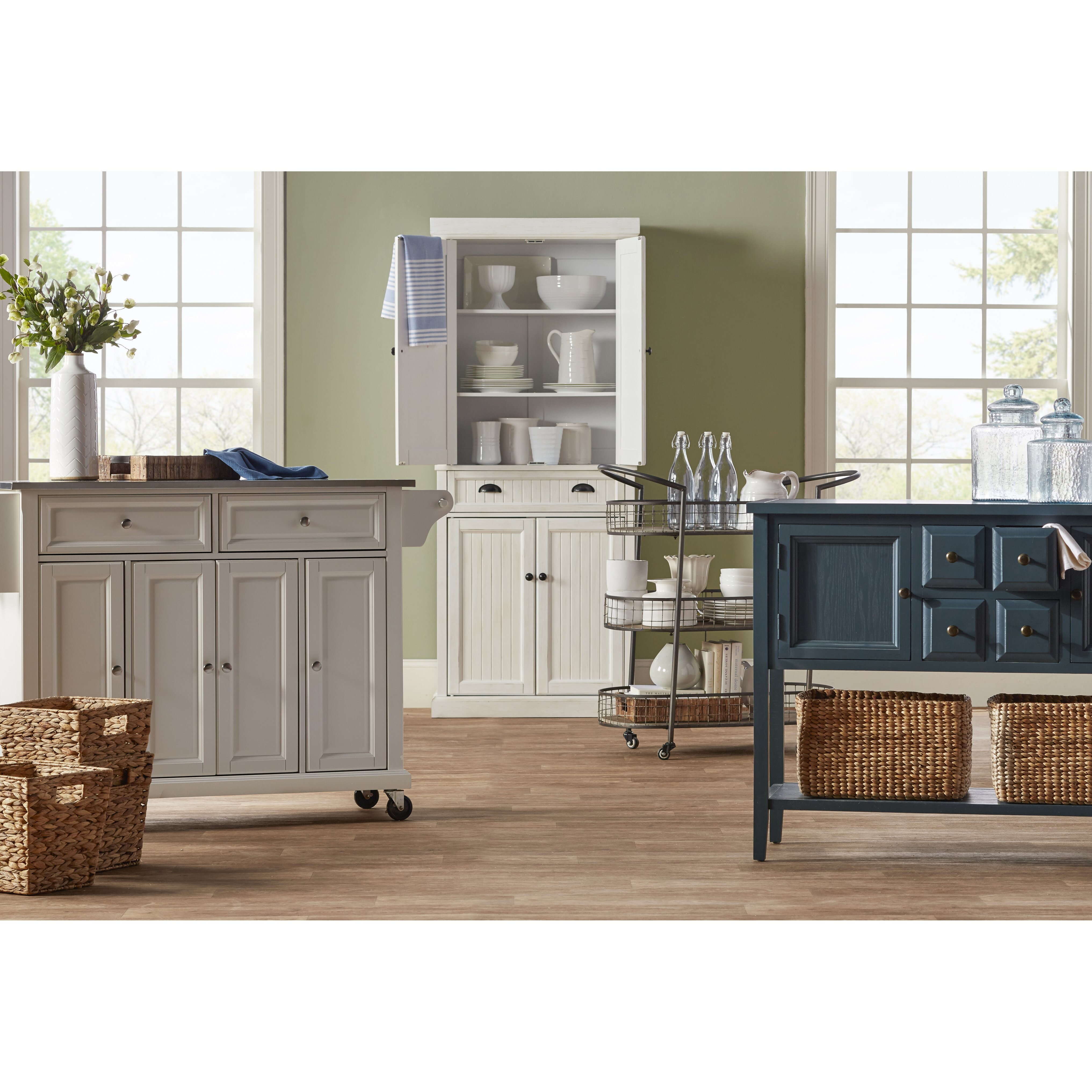 Crosley Kitchen Island: Crosley LaFayette Kitchen Island With Stainless Steel Top