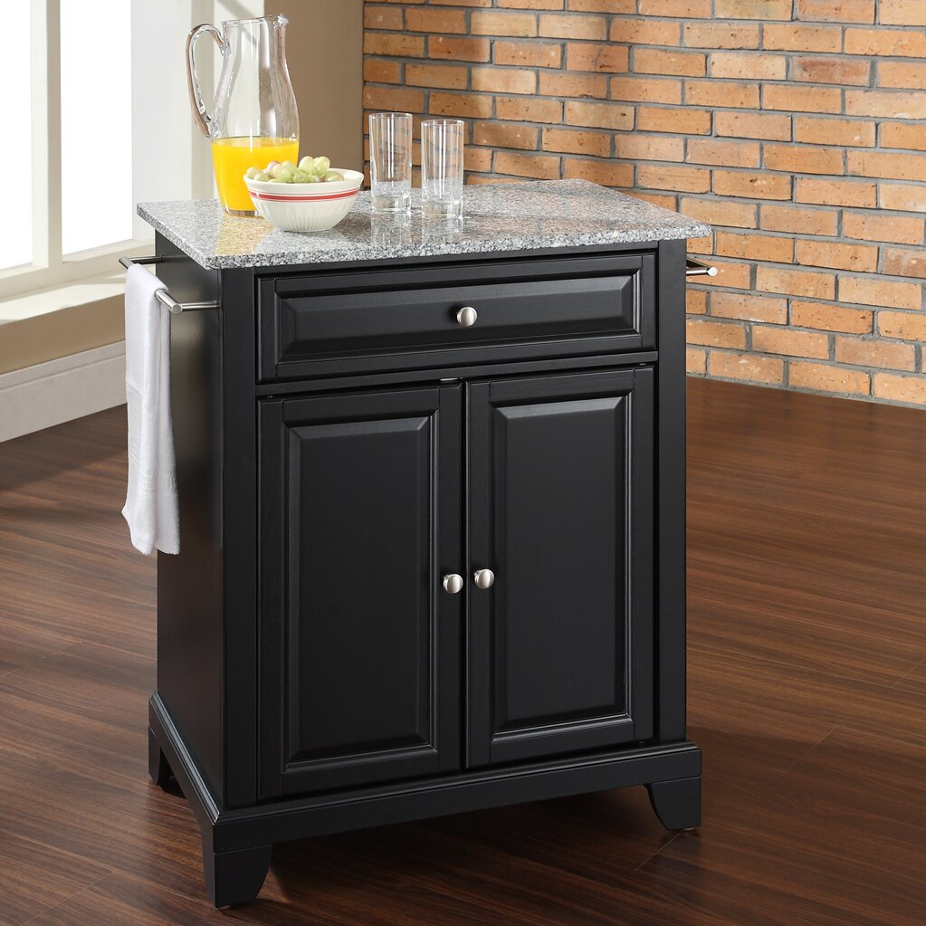 Kitchen Art Lafayette: Crosley LaFayette Kitchen Cart With Granite Top & Reviews