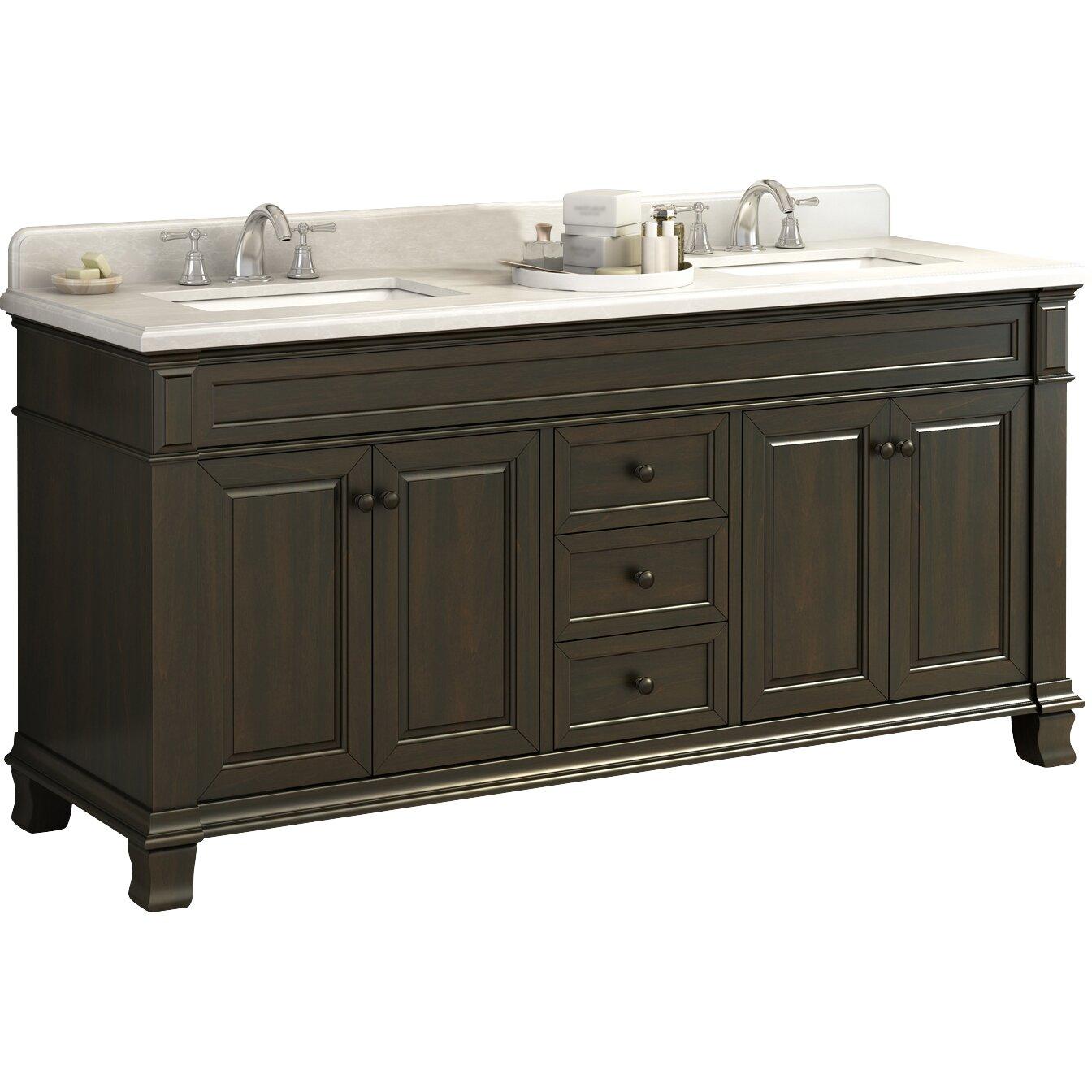 "Lanza Kingsley 72"" Double Bathroom Vanity Set & Reviews ..."