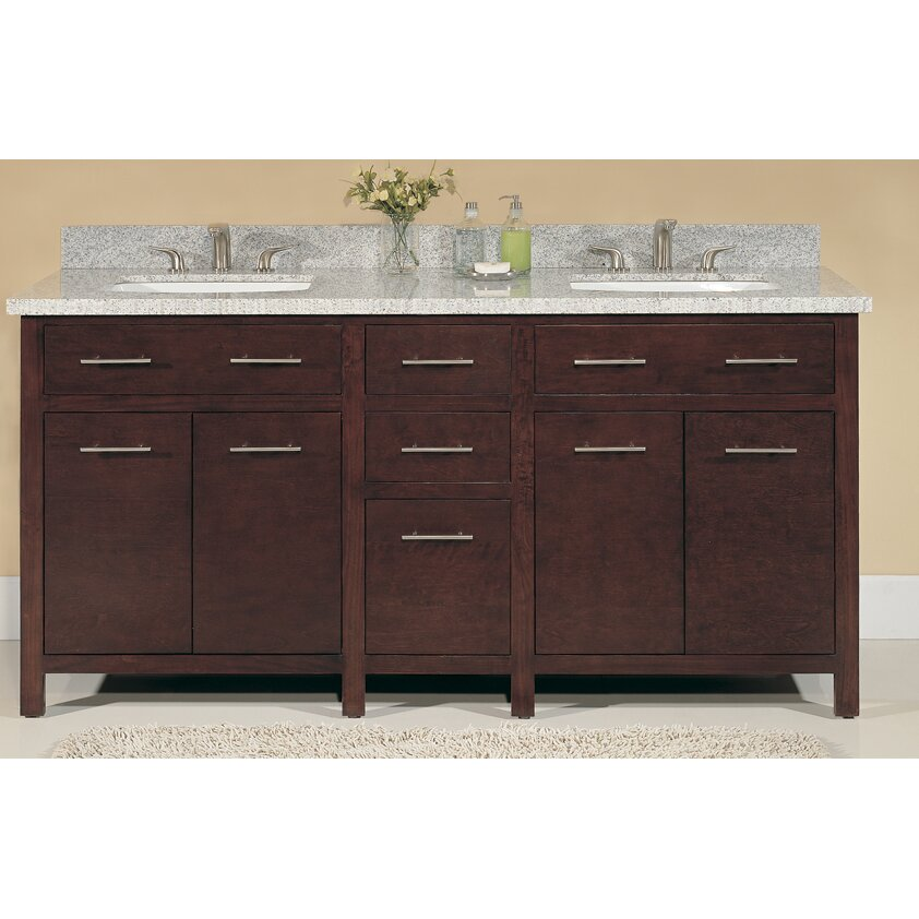 Lanza Blanco 72 Double Bathroom Vanity Set Reviews Wayfair