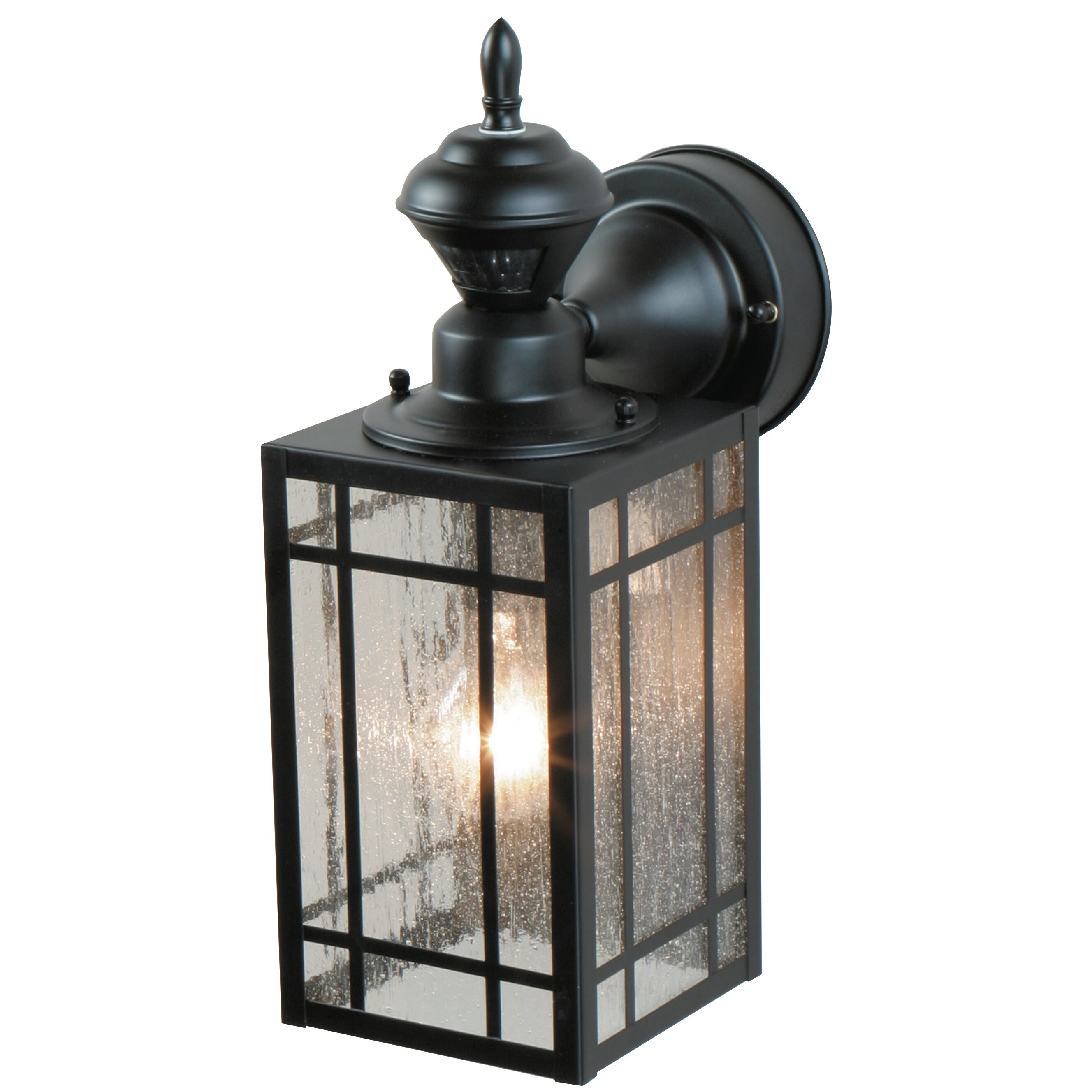 Heath zenith 1 light outdoor wall lantern reviews wayfair for Exterior wall light with motion sensor