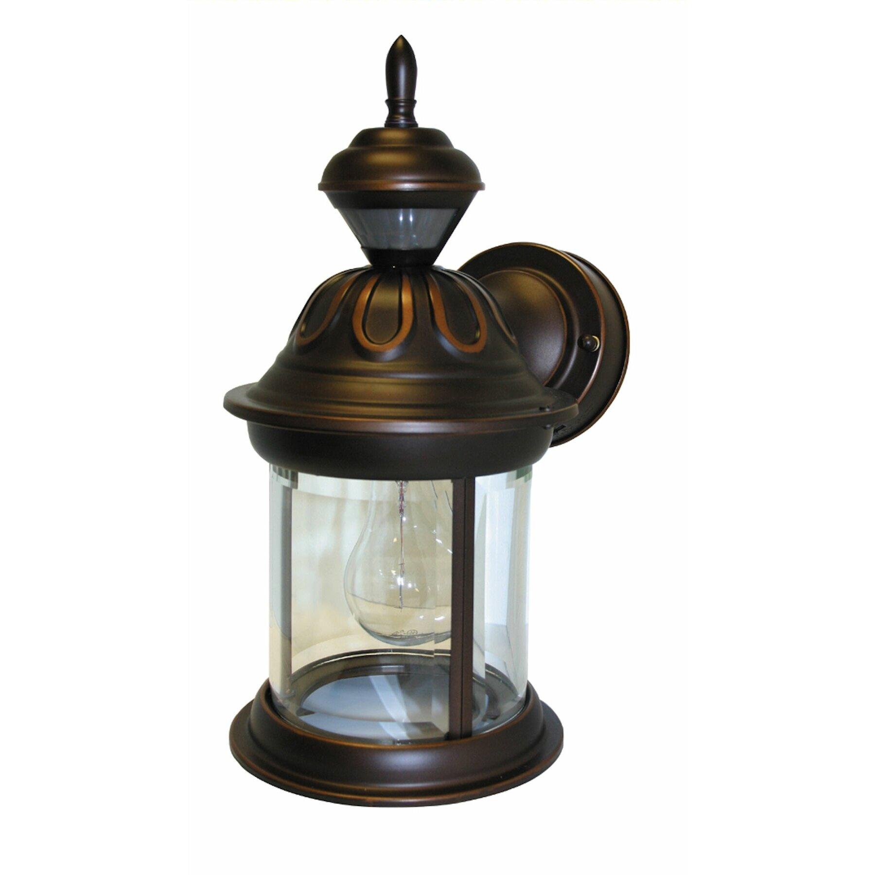 Heath-Zenith Bridgeport 1 Light Outdoor Wall Lantern & Reviews Wayfair