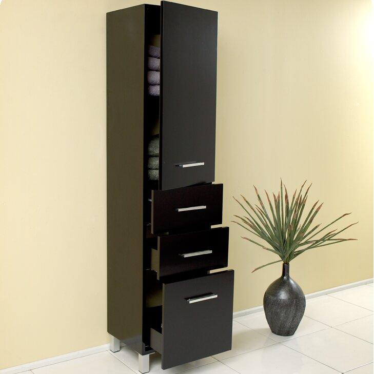linen tower bathroom cabinets shelving fresca sku fbh1153