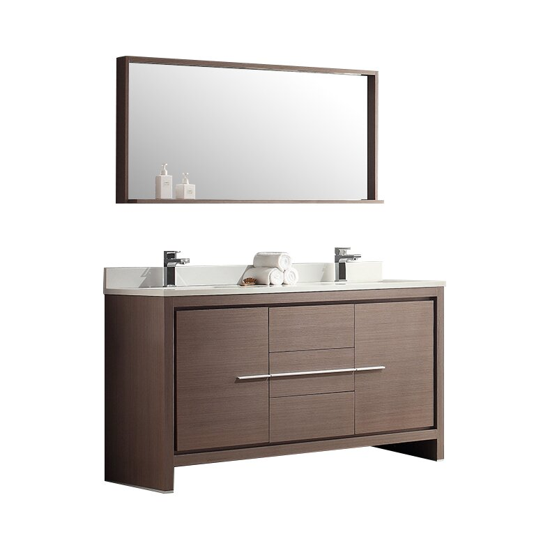modern bathroom vanity mirror fresca allier 60 quot modern bathroom vanity set with 19601