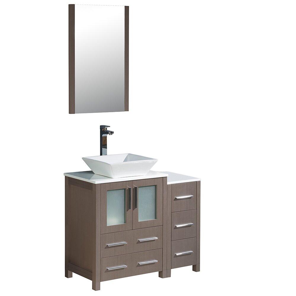 Fresca Torino 36 Single Modern Bathroom Vanity Set With Mirror Wayfair