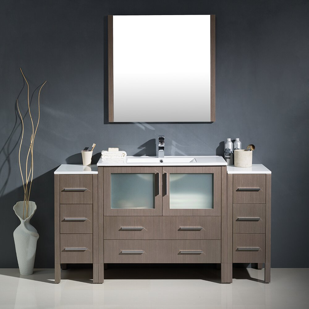 bathroom vanity sets fresca torino 60 quot single modern bathroom vanity set with 716