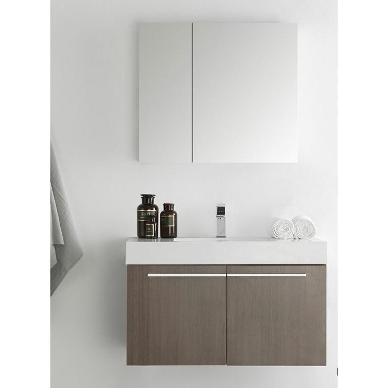 Fresca senza 36 vista single wall mounted modern bathroom Wall mounted medicine cabinet