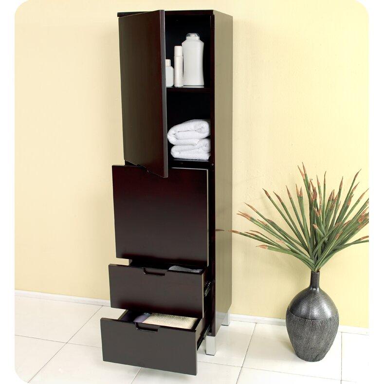 Fresca bathroom x 58 linen cabinet reviews wayfair for Bathroom linen cabinet designs