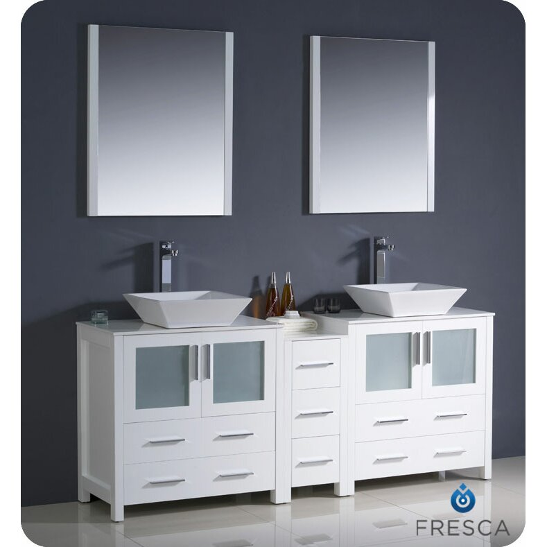Fresca Torino 72 Double Modern Bathroom Vanity Set With Mirror Reviews Wayfair