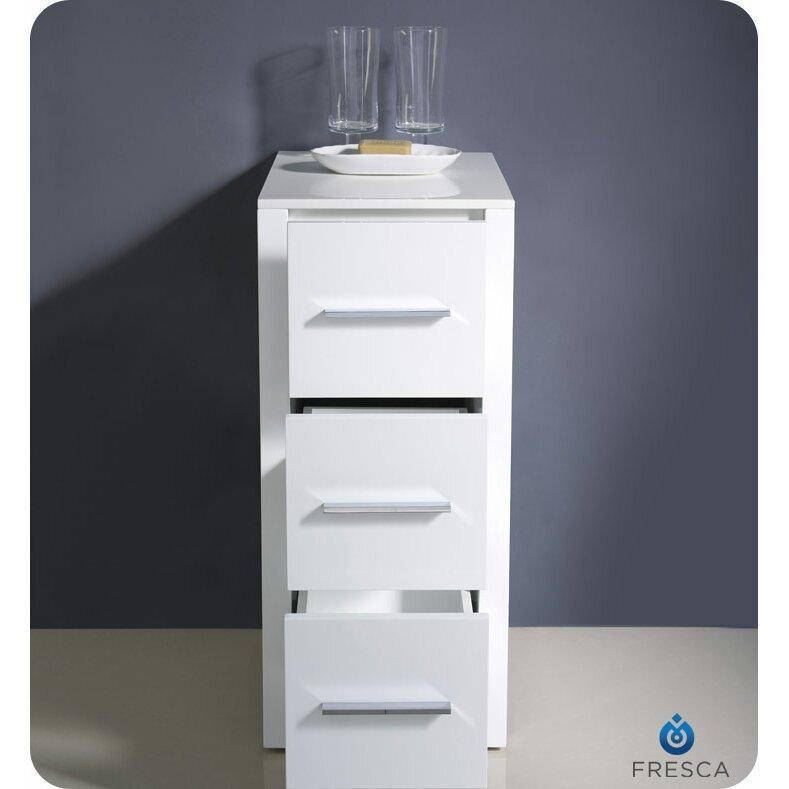 Fresca torino 12 x 31 1 bathroom linen side cabinet for Bathroom cabinets reviews