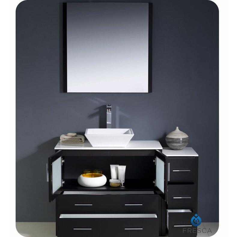 Fresca Torino 48 Single Modern Bathroom Vanity Set With Mirror Reviews Wayfair
