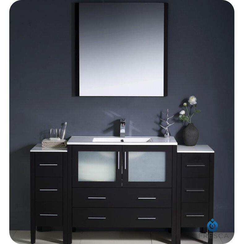60 Single Modern Bathroom Vanity Set With Mirror Reviews Wa