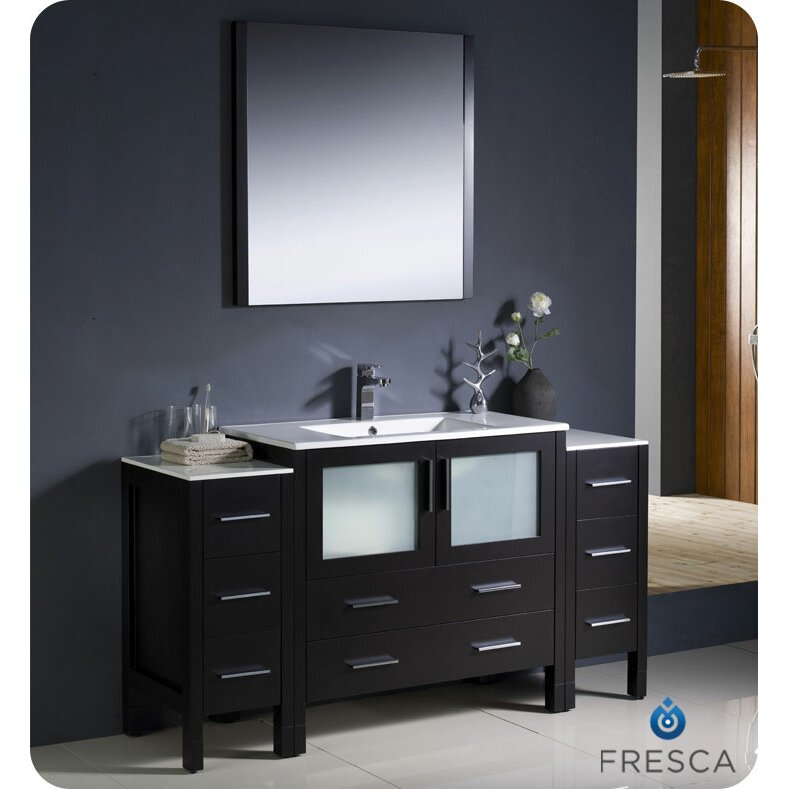 Fresca Torino 60 Single Modern Bathroom Vanity Set With