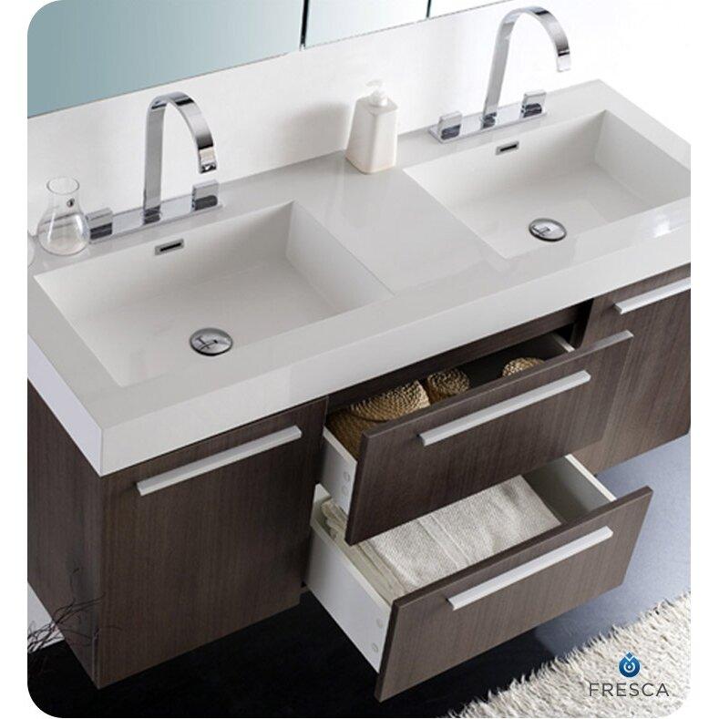 "Fresca Senza 54"" Double Opulento Modern Bathroom Vanity ..."