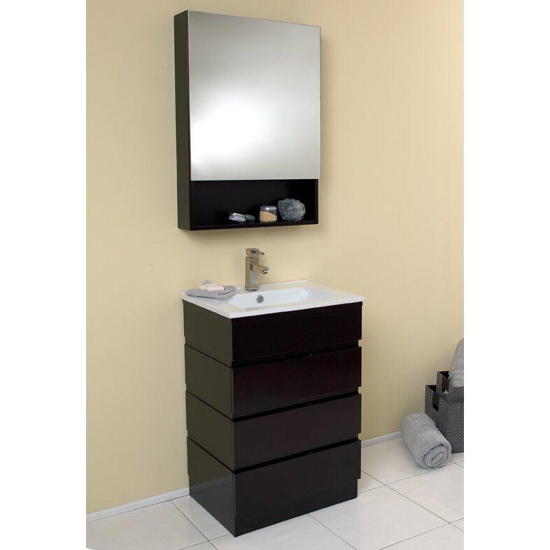 fresca stella 24 single amato modern bathroom vanity set with mirror
