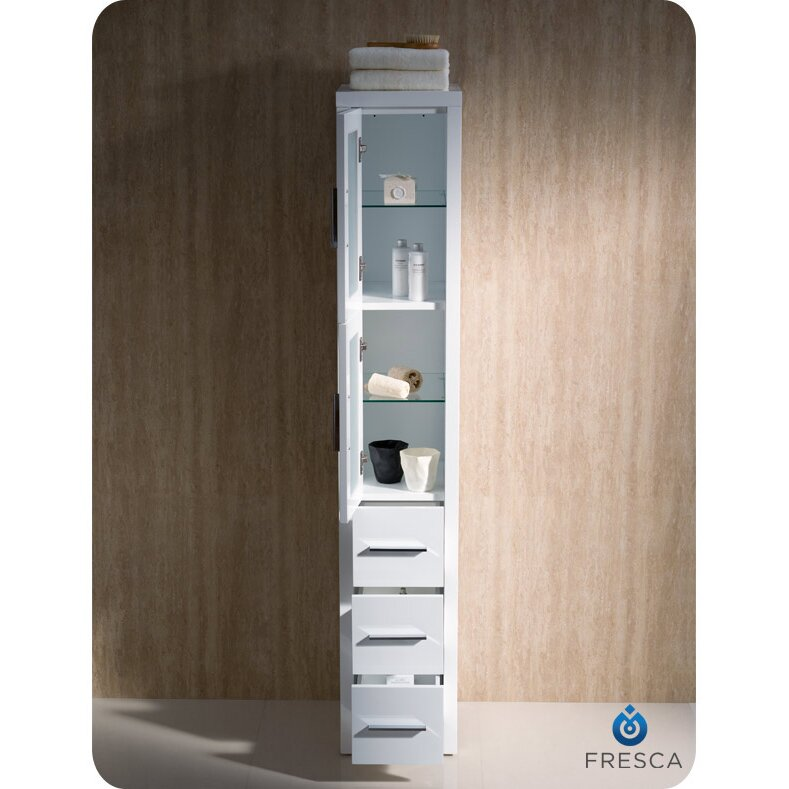 Fresca bari torino 12 x 68 bathroom linen side cabinet for Bathroom cabinets reviews