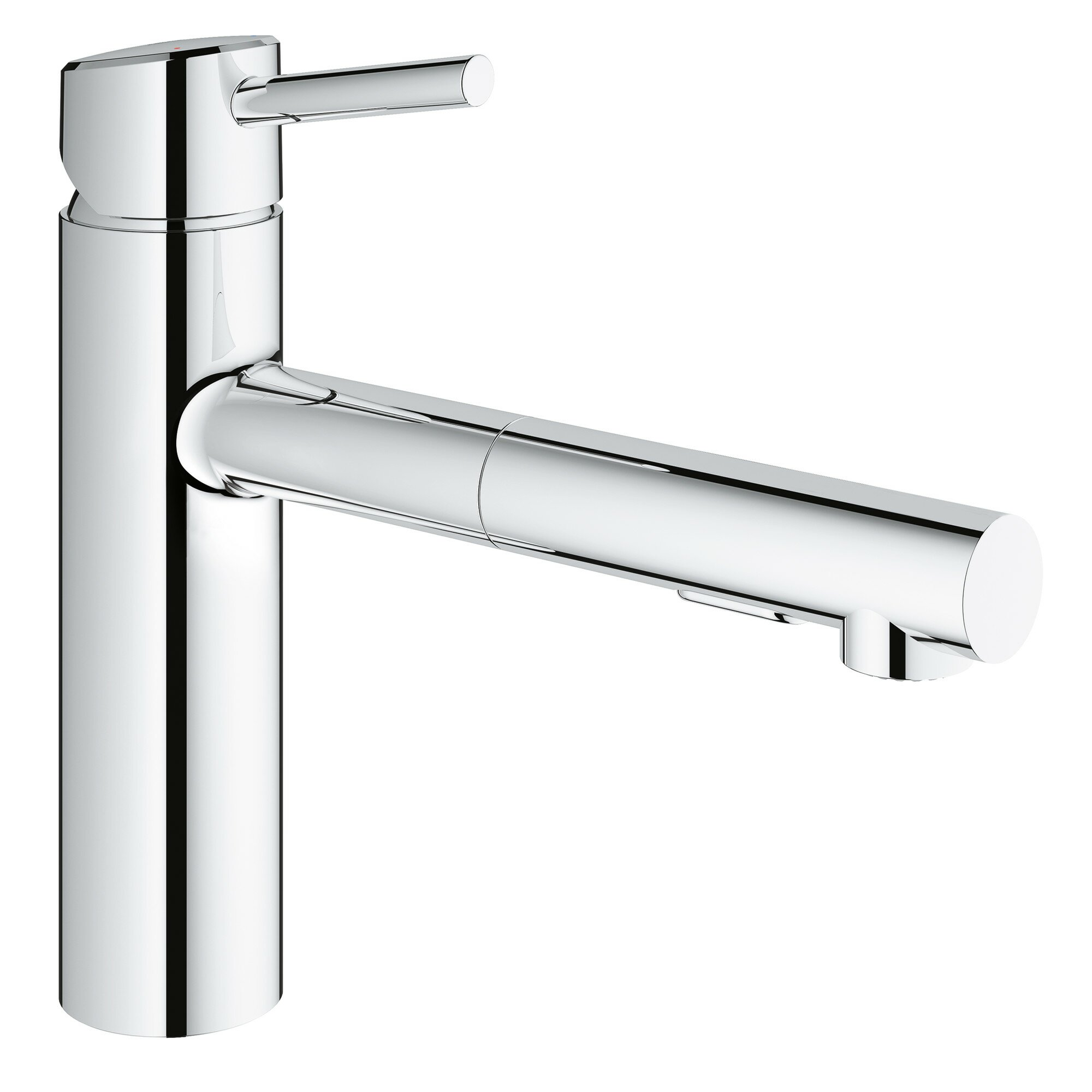 grohe concetto single handle deck mount kitchen faucet with dual spray