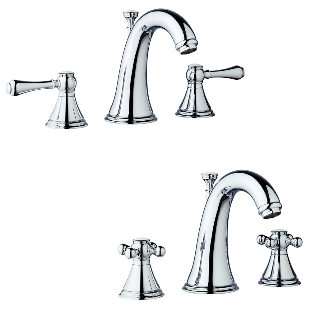 Grohe geneva widespread bathroom faucet less handles for Bathroom faucets for less