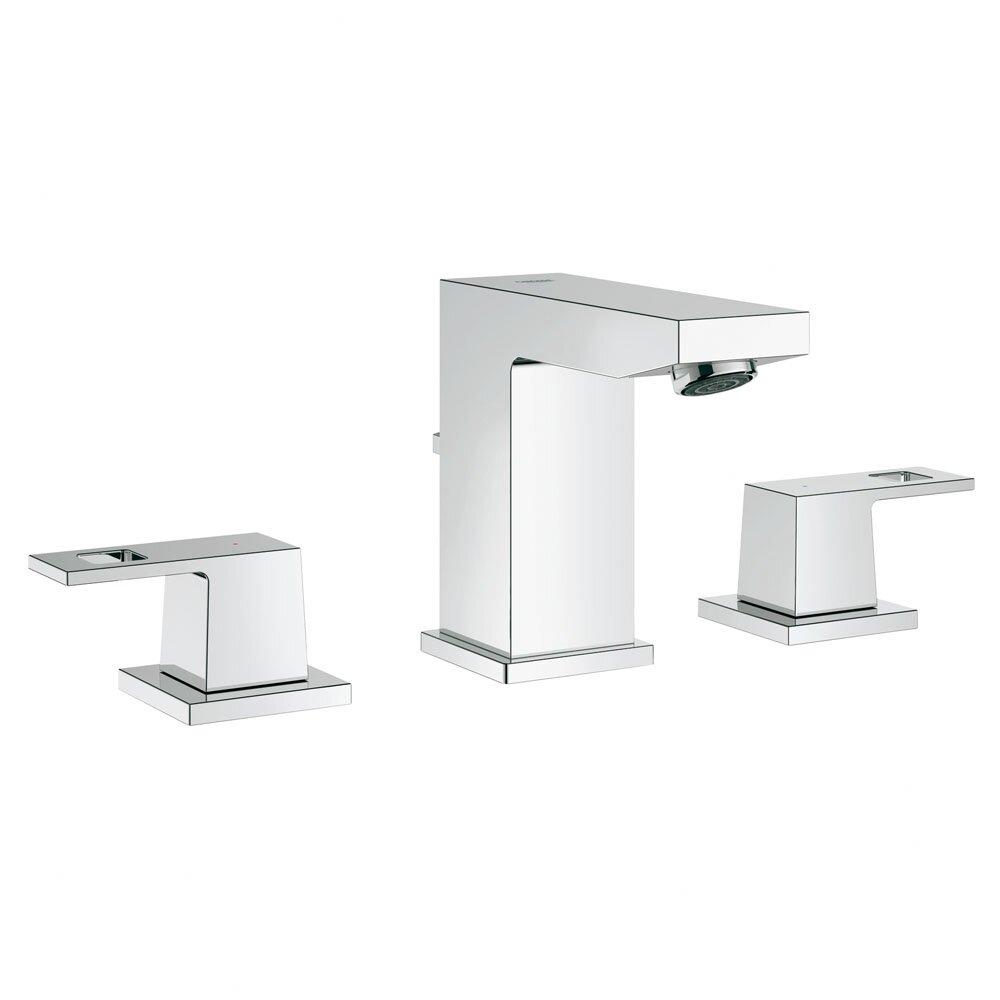 Grohe Eurocube Double Handle Widespread Bathroom Faucet Reviews Wayfair