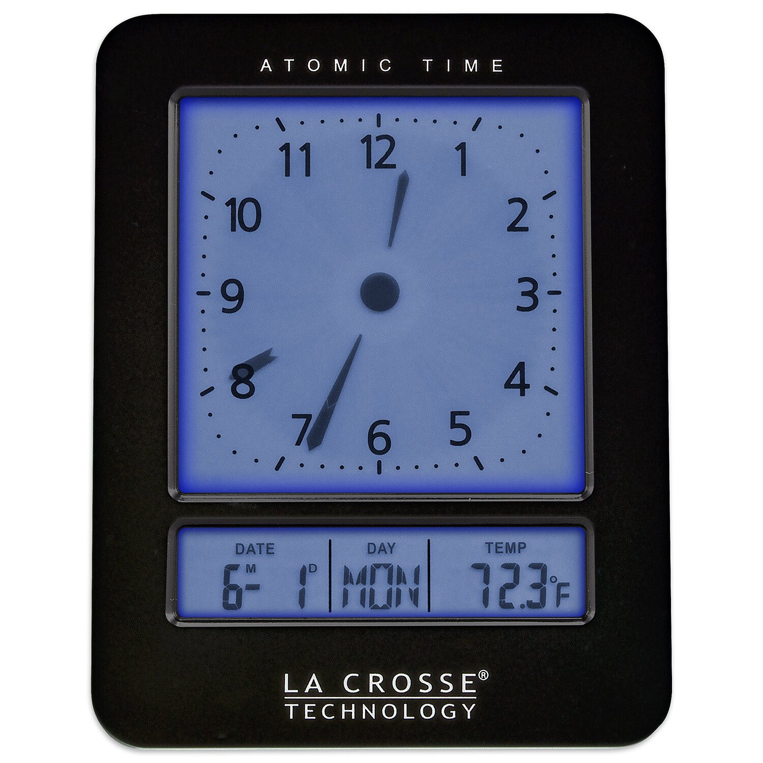la crosse technology atomic alarm clock wayfair. Black Bedroom Furniture Sets. Home Design Ideas