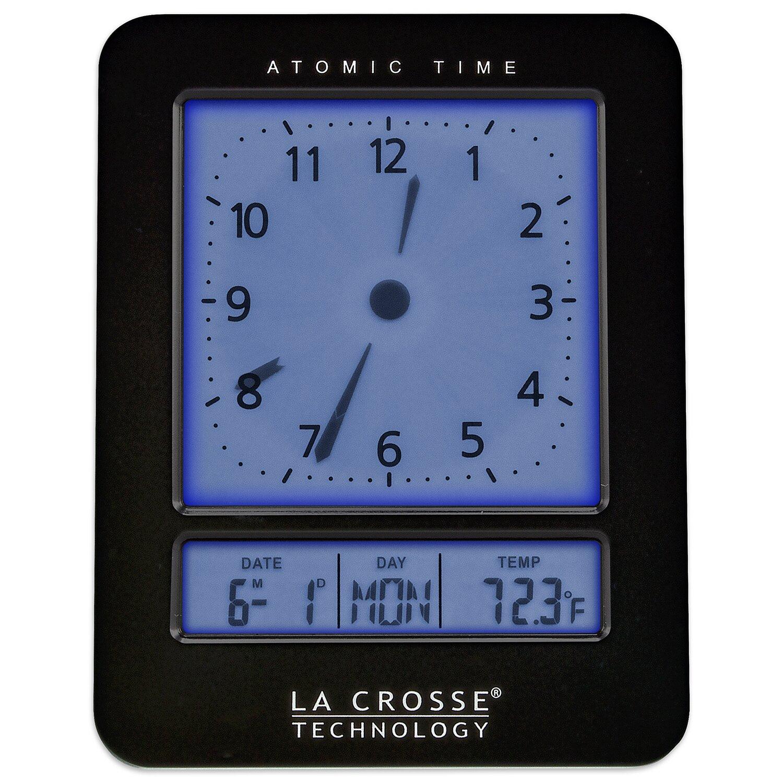 la crosse technology atomic alarm clock wayfair. Black Bedroom Furniture Sets. Home Design Ideas