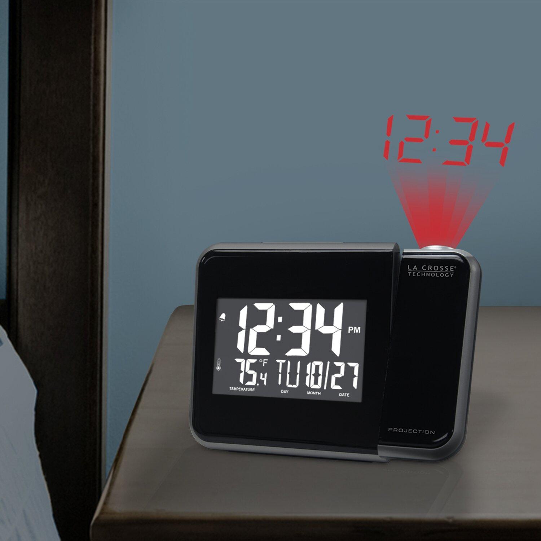 la crosse technology alarm clock wayfair. Black Bedroom Furniture Sets. Home Design Ideas