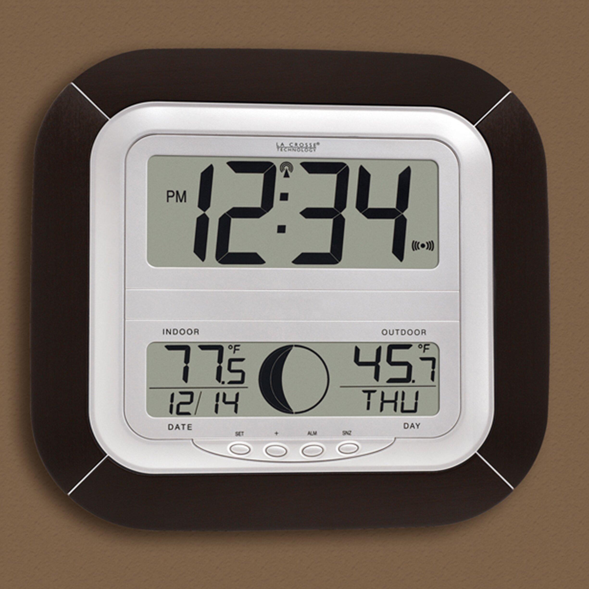 la crosse technology atomic digital wall clock reviews