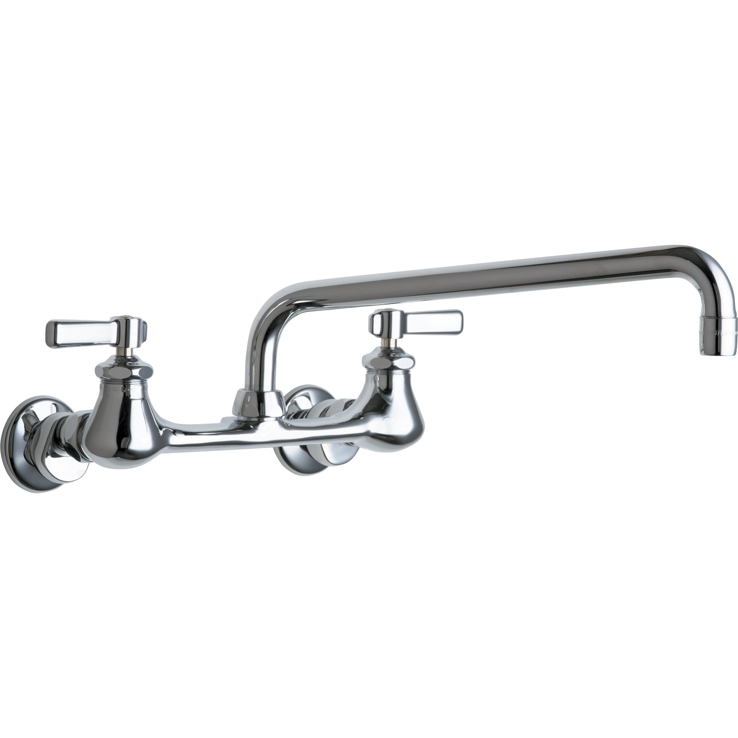 Chicago Faucets 540 Double Handle Wall Mount Bridge Kitchen Faucet ...