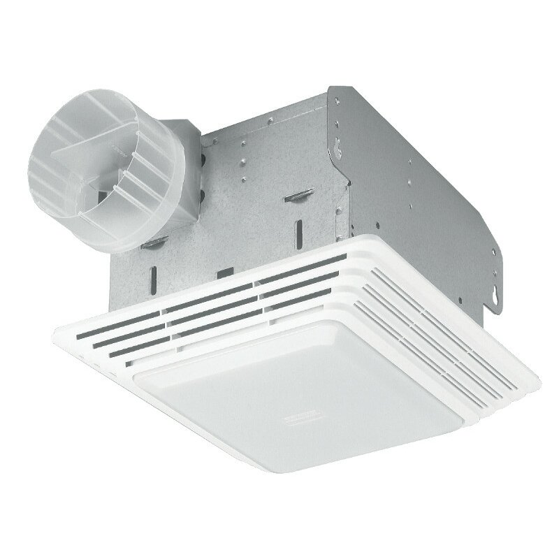 Broan 50 cfm bathroom exhaust fan with light reviews wayfair for Best bathroom fan light reviews