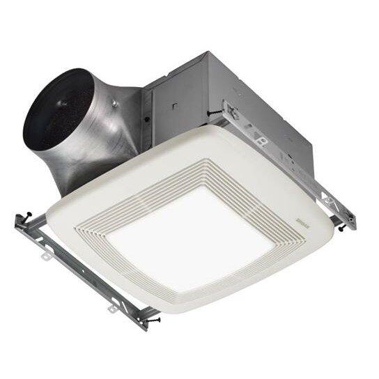 Broan Ultra X1 80 Cfm Energy Star Multi Speed Series Ceiling Fan Light Wayfair